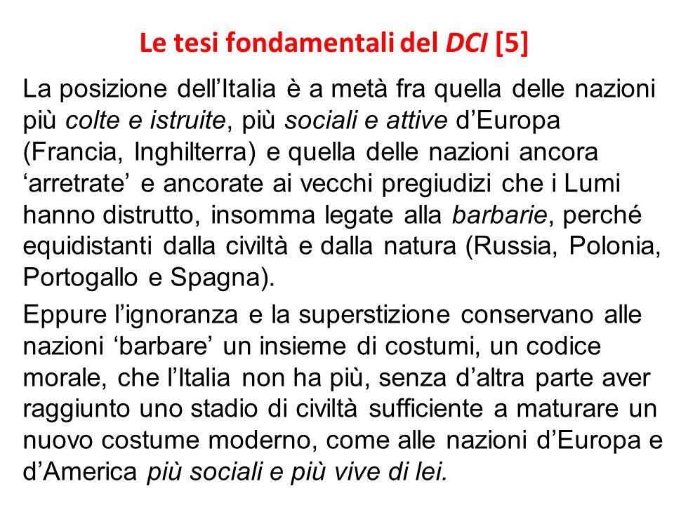 Le tesi fondamentali del DCI [5]